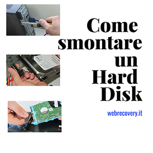 Come smontare un hard disk